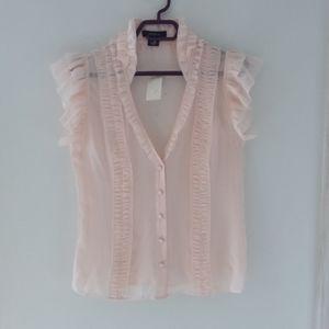 Arden B. Blush Pink Blouse 100% Silk 🌼Host Pick🌼